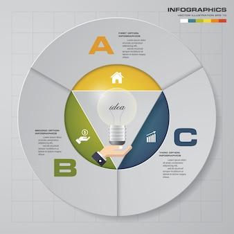 Modern 3 options presentation business infographics