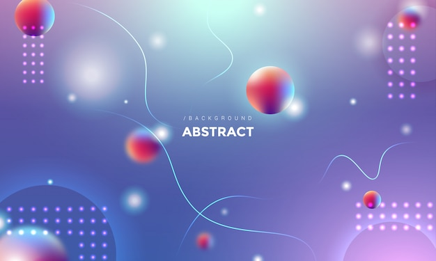 Modern 3d abstract round shape background