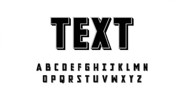 Modern 3d alphabet font