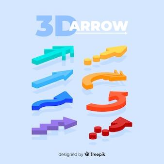 Modern 3d arrow collection