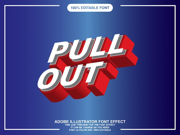 Modern 3d editable text effect for illustrator