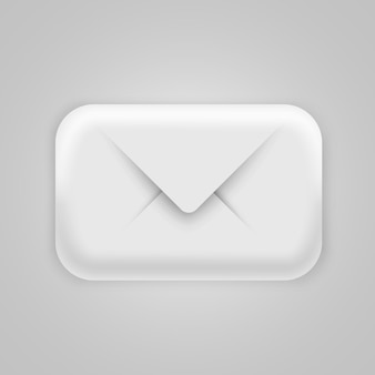 Modern 3d email icon. post, spam or letter
