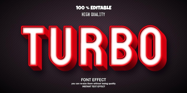 현대 3d 글꼴, 편집 가능한 글꼴 효과