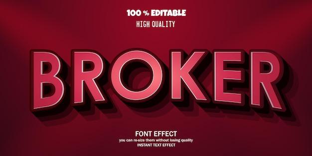 Modern 3d font, editable font effect