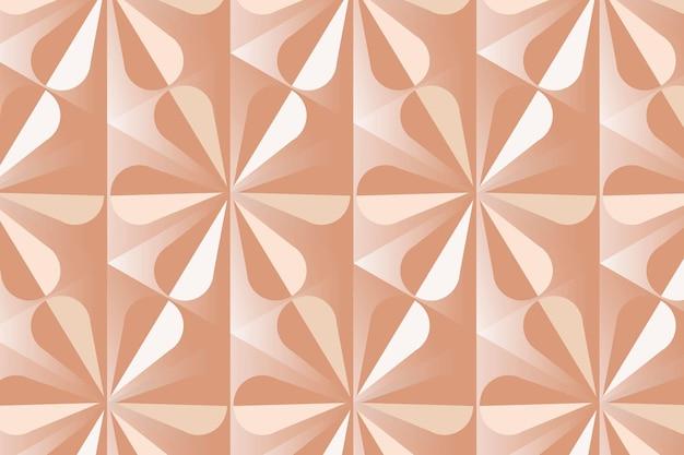 現代の3d幾何学模様ベクトルオレンジ色の背景