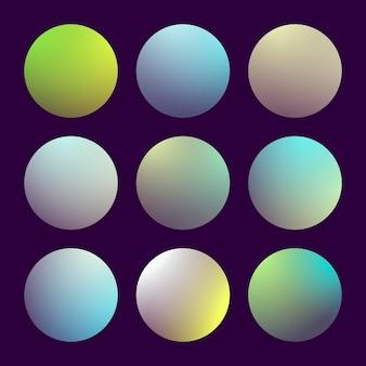 丸い抽象で設定されたモダンな3dグラデーション