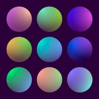 Modern 3d gradient set