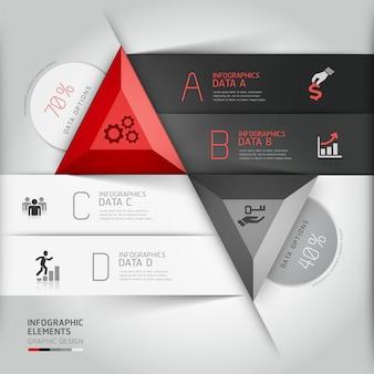 Modern 3d infographics business triangle.