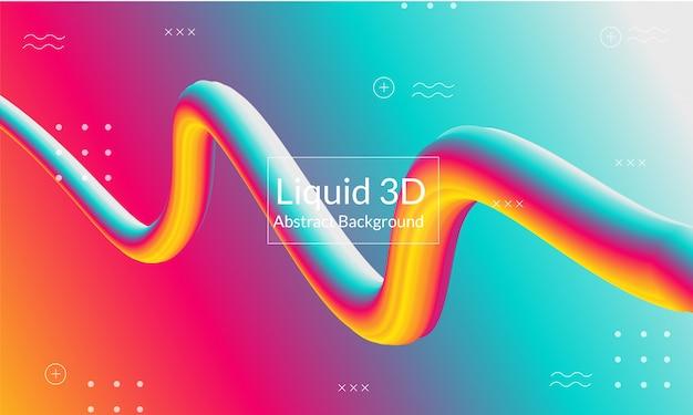 Modern 3d line background