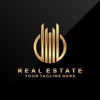 Modern 3d luxury real estate logo template
