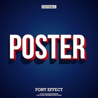 影と濃い青の背景を持つ現代の3dポスターとバナーの小文字のテキスト
