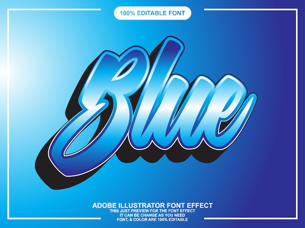 Modern 3d script editable typography font effect
