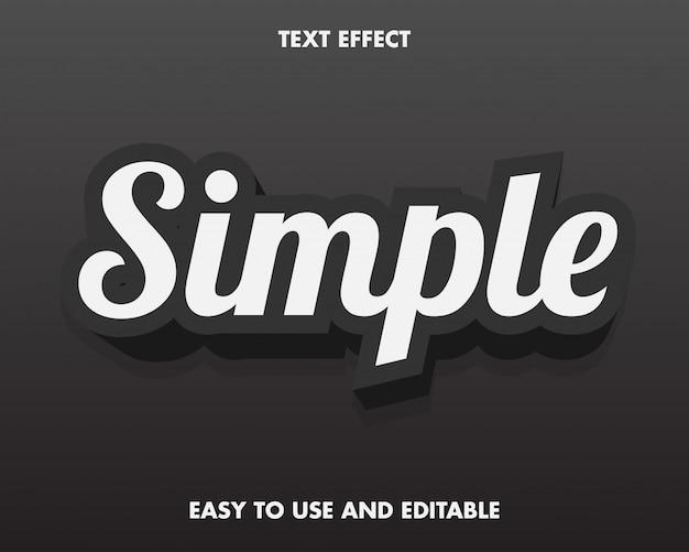 Modern 3d simple text effect cartoon.