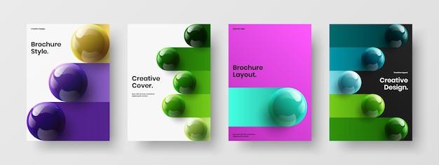 현대 3d 분야 전단지 컨셉 컬렉션