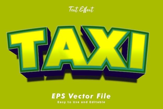 Современный текстовый эффект 3d такси.