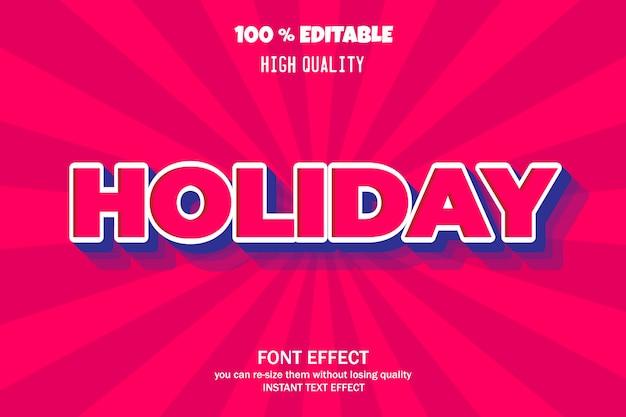 Modern 3d text effect,  font effect