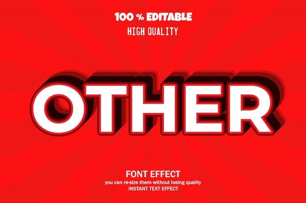 Modern 3d text effect   font effect
