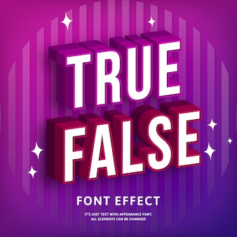 Modern 3d text effect in trendy style colorful geometric