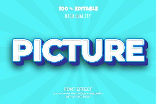 Modern 3d text style, editable font effect