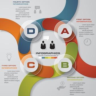 最新の4つのオプションプレゼンテーションビジネスインフォグラフィックス