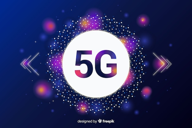 Modern 5g concept background