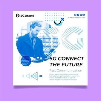 Modern 5g flyer template