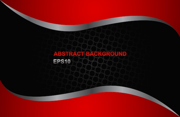 Modern absract red and black background