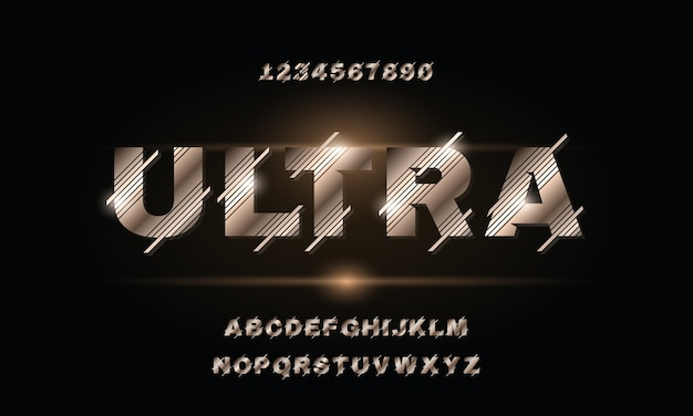 現代の抽象的なアルファベットフォント。テクノロジー、デジタル、映画のロゴデザインのためのタイポグラフィアーバンスタイルフォント