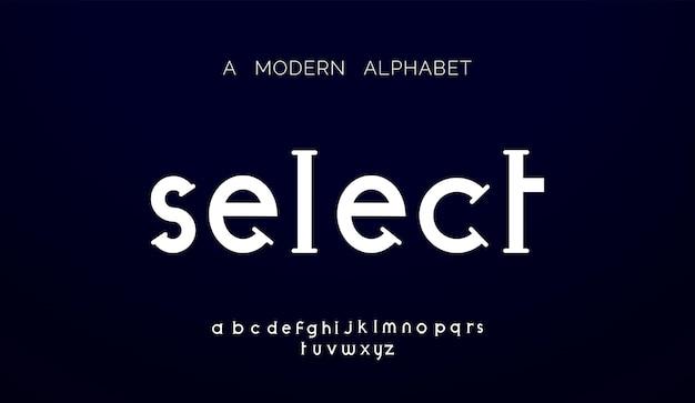 現代の抽象的なアルファベットフォント。