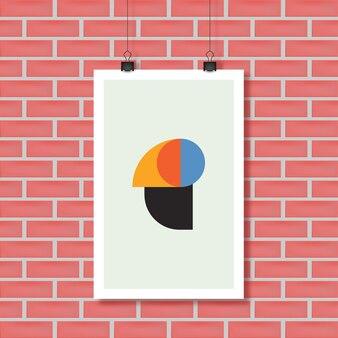 Современное абстрактное искусство геометрический фон, векторные плакат