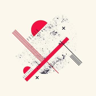 フラットでミニマルなスタイルのモダンな抽象芸術の幾何学的な背景。デザインの要素とベクトルポスター