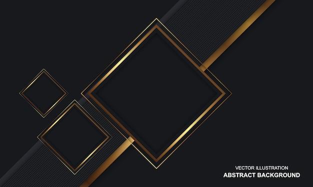 현대 추상 배경 검정과 황금 럭셔리