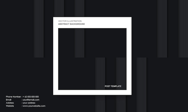 Modern abstract background black dop and lines with post template concept