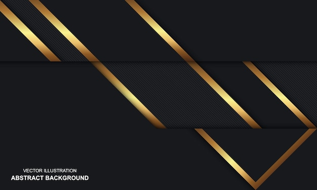 Modern abstract background black and golden luxury