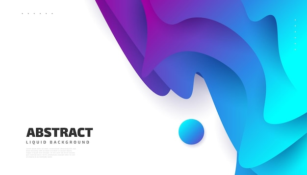 Modern abstract background design template with colorful fluid shapes
