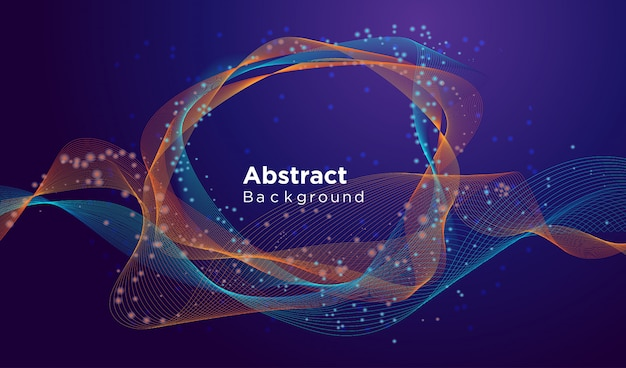 Modern abstract background design template