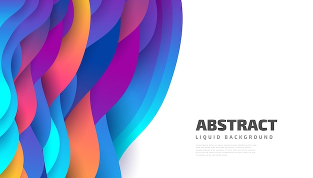 Modern abstract background design with colorful fluid and liquid shapes. liquid background design for landing page, theme, brochure, banner, cover, booklet, print, flyer, book, card or advertising