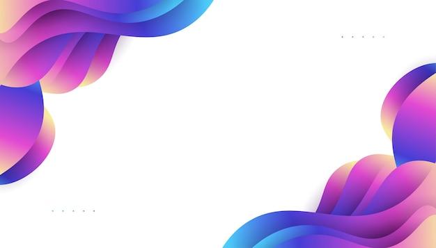 다채로운 액체 모양으로 현대 추상적인 배경 디자인입니다. 방문 페이지, 테마, 브로셔, 배너, 표지, 인쇄, 전단지, 책, 카드 또는 광고를 위한 유체 배경 디자인