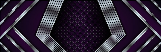 Modern abstract background. gradient purple colors. square pattern in the center. gradient silver on diagonal shape
