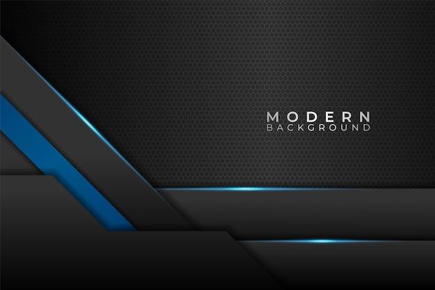 Modern abstract background minimalist overlapped metallic shiny blue