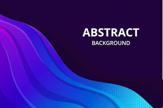Современные абстрактные фоновые обои в ярком синем фиолетовом цвете