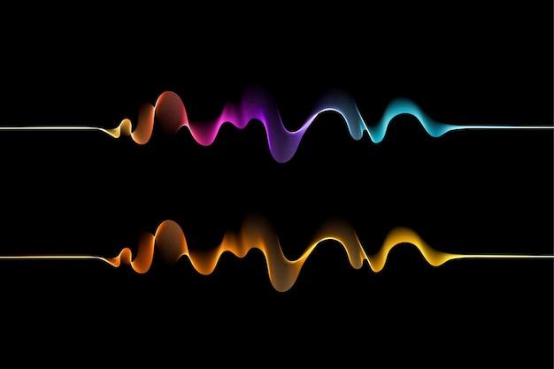 Современные абстрактные фоновые обои в ярком сине-фиолетовом розовом цвете premium векторы