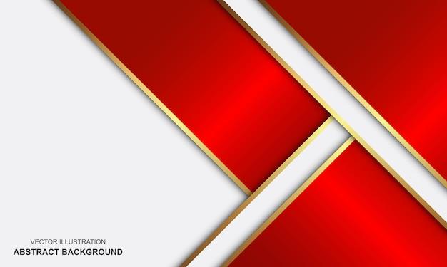Современный абстрактный фон белые красные и золотые линии роскошный дизайн