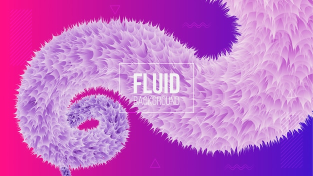 Modern abstract background with 3d fluid shape