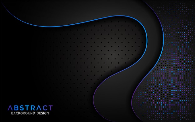 Modern abstract background with aurora glitter particle