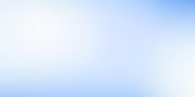 ぼやけとハーフトーンの要素とデジタル技術をテーマにしたホワイトブルーパステルグラデーションのモダンな抽象的な背景。