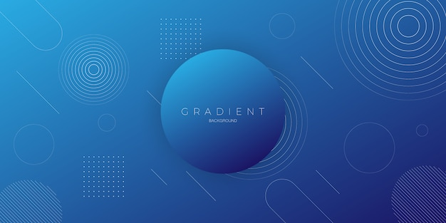 Modern abstract background with dark blue color gradation with circle elements