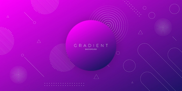 Modern abstract background with dark purple color gradation with circle