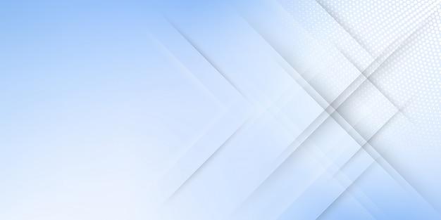 斜めの線またはストライプとハーフトーン要素とデジタル技術をテーマにした青いパステルグラデーションのモダンな抽象的な背景。