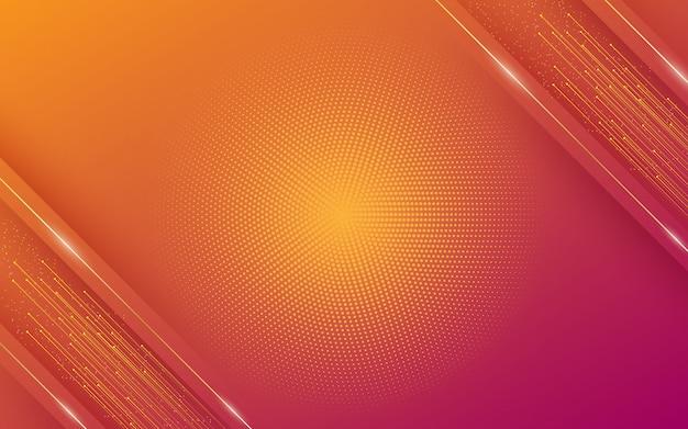 斜めの線またはストライプとハーフトーンの要素、およびデジタル技術をテーマにしたカラフルなパステルグラデーションのモダンな抽象的な背景。